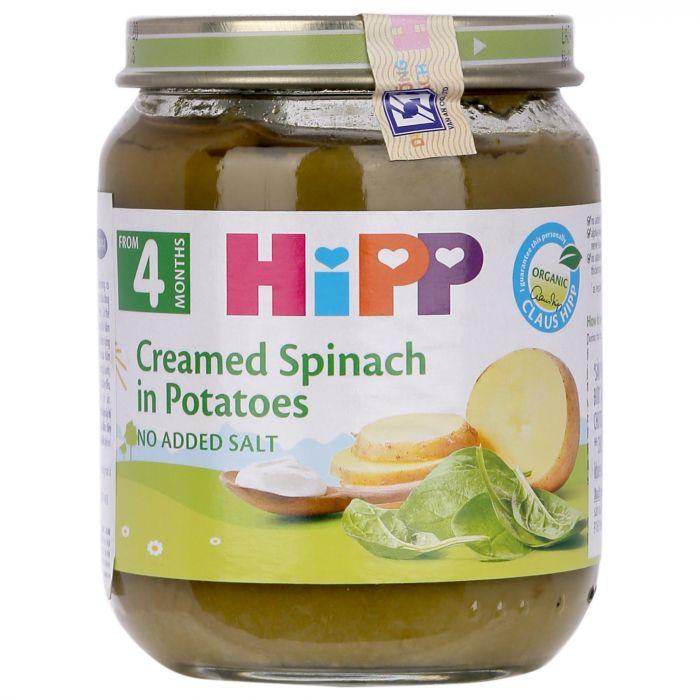 Dinh dưỡng đóng lọ HiPP 125g vị rau chân vịt, khoai tây (4003)