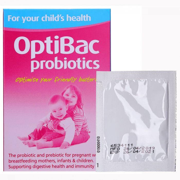 Men vi sinh Optibac Probiotics Anh hộp 30 gói cho trẻ từ 0 - 12 tuổi