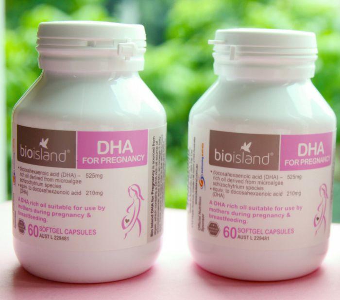 Combo 2 hộp Viên uống Bio Island bổ sung DHA cho bà bầu (60 viên/hộp)