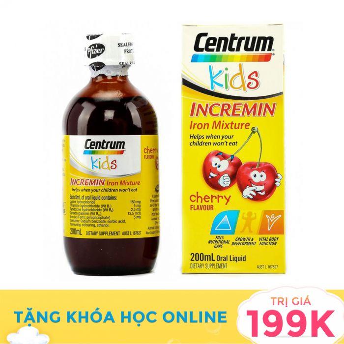 Siro Centrum Kids Incremin Iron Mixture nội địa Úc 200ml cho trẻ biếng ăn