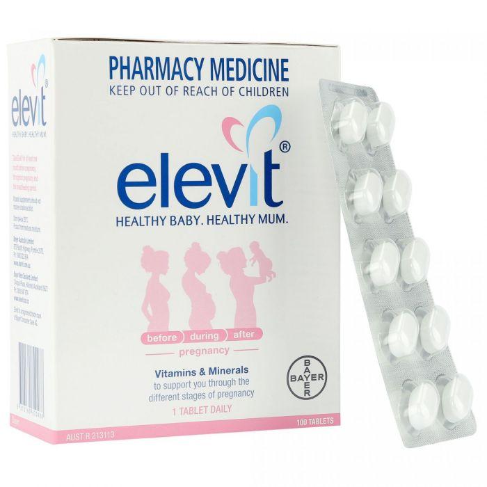 Viên uống vitamin tổng hợp Elevit nội địa Úc cho phụ nữ mang thai hộp 100 viên