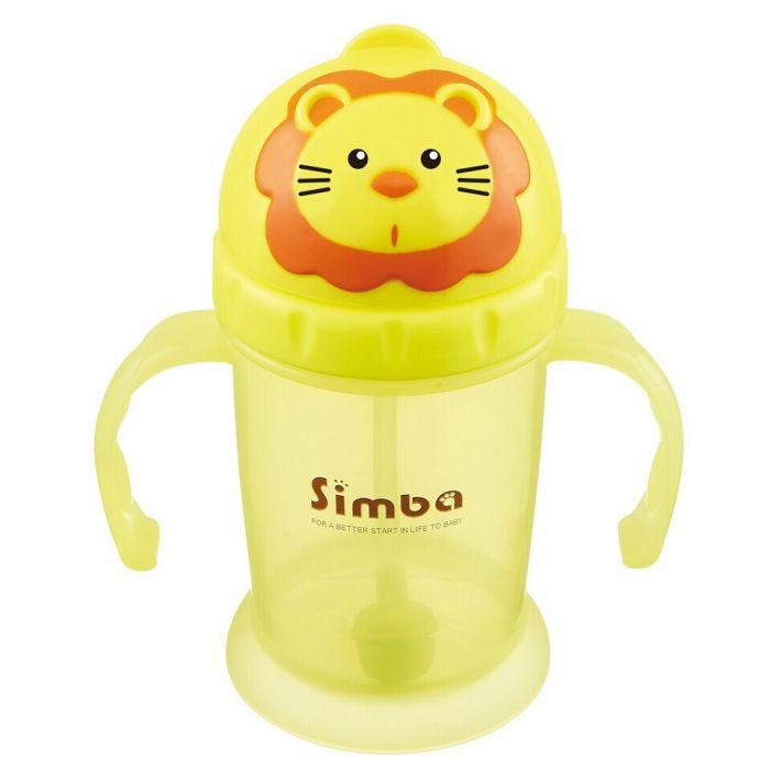Cốc tập uống nắp trượt logo Simba P9938 240ml