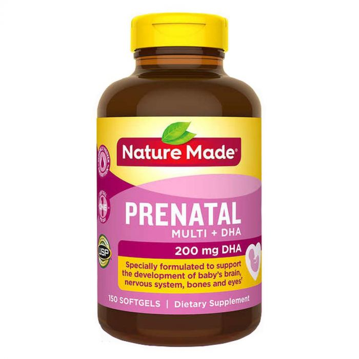 Viên uống Nature Made Prenatal Multi+DHA lọ 150 viên cho bà bầu