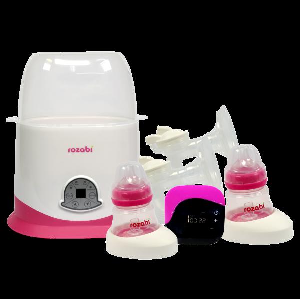 Combo Máy hút sữa Rozabi Deluxe và Máy hâm sữa Rozabi 5 chức năng (Tặng quà)