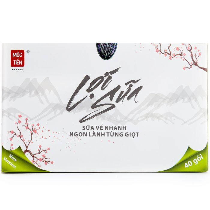 Lợi sữa Mộc Tiên 100% thảo dược 2018 (1 liệu trình/40 gói/hộp)