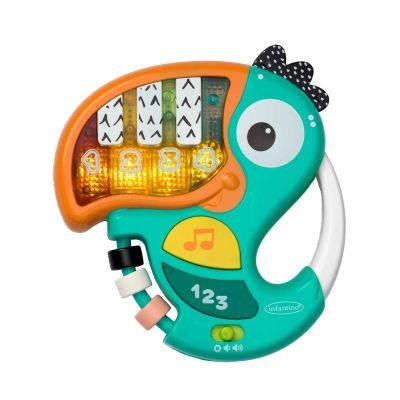 Đàn piano Infantino hình chú vẹt giúp bé học chữ và số 212011N (từ 6 tháng tuổi)