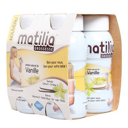 Sữa Matilia Pháp hương vani cho bà bầu (4 hộp x 200ml)