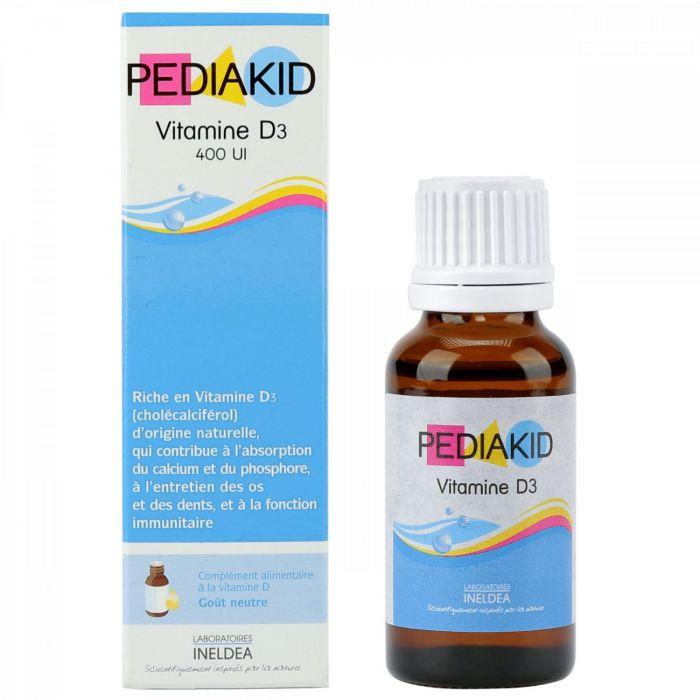 Vitamin Pediakid D3 20ml chống còi xương (từ 0 tháng tuổi)