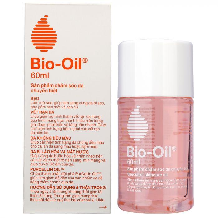 Tinh dầu Bio Oil 60ml giúp làm mờ các vết rạn da - Hàng Nhập khẩu