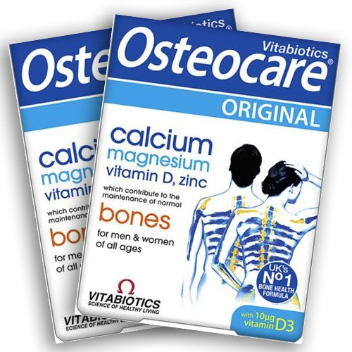 Combo 2 hộp bổ sung canxi Vitabiotics Osteocare cho bà bầu