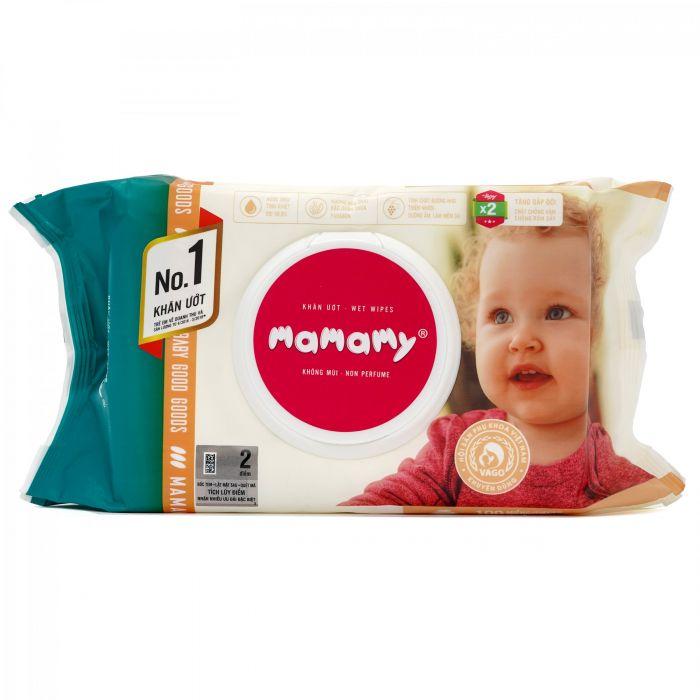 Khăn ướt Mamamy không mùi 100 tờ (từ 0 tháng tuổi)