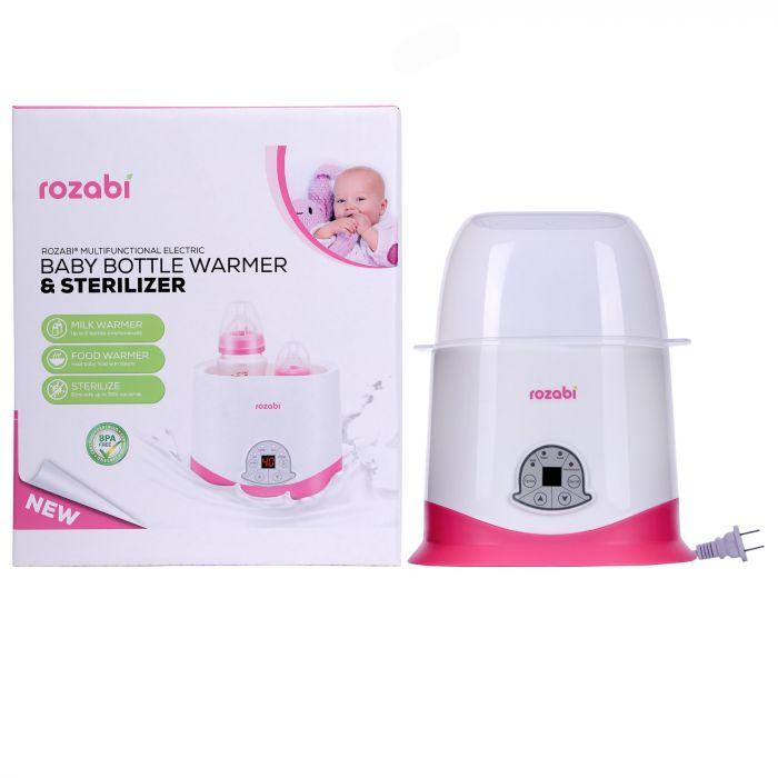 Máy hâm sữa tiệt trùng cảm ứng Rozabi 5 chức năng (mẫu mới)