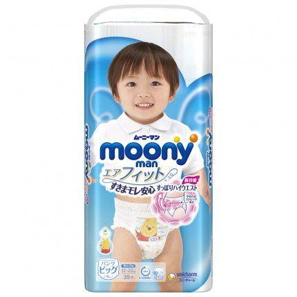 Bỉm - Tã quần Moony bé trai size XL 38 miếng cho bé 12 - 22kg